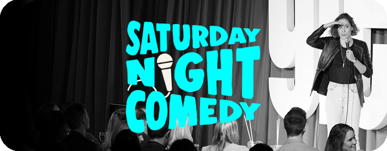 Saturday Night Comedy Button Suzi bw